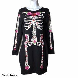 Divided Floral Skeleton Dress